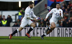 February 10, 2019 - London, England, United Kingdom - L-R Elliott Daly of England   and Jonny May of England  ..during the Guiness 6 Nations Rugby match between England and France at Twickenham  Stadium on February 10th,  in Twickenham, London, England. (Credit Image: © Action Foto Sport/NurPhoto via ZUMA Press)