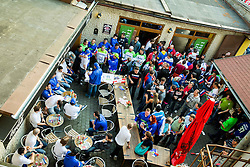 Slovenian Ice Hockey National Team at meeting with their supporters at day off during 2015 IIHF World Championship, on May 9, 2015 in Restaurant Zadni Vratka, Stodolni Street, Ostrava, Czech Republic. Photo by Vid Ponikvar / Sportida