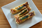 Butternut tart with fried sage, by Kate Moffett