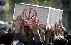 TEHRAN, Nov. 27, 2015 (Xinhua) -- Iranians carry the coffin of Iran's former ambassador to Lebanon Ghazanfar Roknabadi, who died in the Hajj stampede in Saudi Arabia in September, during his funeral in Tehran, capital of Iran, on Nov. 27, 2015. (Xinhua/Ahmad Halabisaz) (Credit Image: © Ahmad Halabisaz/Xinhua via ZUMA Wire)