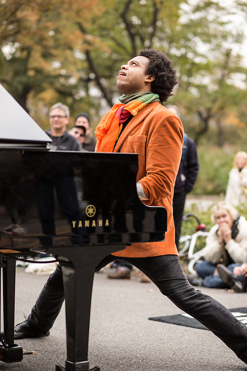 ELEW, Eric Lewis, plays an energetic fusion of rock and jazz.