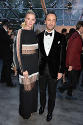 TOM FORD and LARA STONE at British Vogue's Centenary Gala Dinner in Kensington Gardens, London on 23rd May 2016.