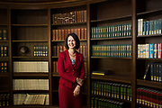 Exponent CEO Catherine Corrigan poses for a portrait at Exponent in Menlo Park, California, on February 21, 2019. (Stan Olszewski for Silicon Valley Business Journal)