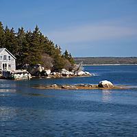 North America, Canada, Nova Scotia, Guysborough County. Little Harbour waterfront home on the Eastern Shore.
