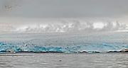 Glacier at western coast of Spitsbergen, Svalbard in July 2012.