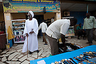 Mr... an arab from the north of Sudan at his shop in downtown Juba on Jan. 6, 2011