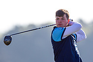 Sam Murphy (Portumna) on the 2nd tee during Round 2 of the Ulster Boys Championship at Donegal Golf Club, Murvagh, Donegal, Co Donegal on Thursday 25th April 2019.<br /> Picture:  Thos Caffrey / www.golffile.ie