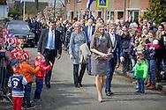 30-3-2016 Nieuwer Ter Aa  - Queen Maxima visit Wednesday, March 30th Village Our Pleasure In Newer Ter Aa. The village is one of the eleven nominees for the Apples of Orange in 2016, the annual award of the Oranje Fonds. COPYRIGHT ROBIN UTRECHT<br /> 30-3-2016 Nieuwer Ter Aa - NIEUWER TER AA - Koningin Maxima brengt als beschermvrouwe van het Oranje Fonds een bezoek aan Dorpshuis Ons Genoegen. Het dorpshuis is een van de elf genomineerden voor de Appeltjes van Oranje 2016, de jaarlijkse prijs van het Oranje Fonds.  Koningin Maxima bezoekt woensdag 30 maart Dorpshuis Ons Genoegen in Nieuwer Ter Aa. Het dorpshuis is één van de elf genomineerden voor de Appeltjes van Oranje 2016, de jaarlijkse prijs van het Oranje Fonds. COPYRIGHT ROBIN UTRECHT