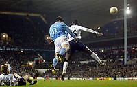 Photograph: Scott Heavey.<br /> Tottenham Hotspur v Manchester City. FA Cup Fourth Round Replay. 04/02/2004.<br /> Jon Macken heads in his winner