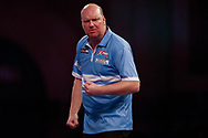 WINNER Vincent Van de Voort celebrates his 3 set to nil victory during the Darts World Championship 2018 at Alexandra Palace, London, United Kingdom on 18 December 2018.