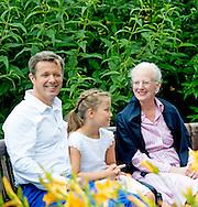 25-7-2015 - Grasten - Denmark Princess Mary with Vincent and Prince Christian and Princess Isabella and Prince Frederik and Princess Josephine and Queen Margrethe and Prince Henrik and Princess Alexandra and Count Jefferson von Pfeil und Klein-Ellguth and son Count Friedrich Richard Oscar Jefferson von Pfeil und Klein-Ellguth and daughter Lady Ingrid Alexandra Irma Astrid Benedikte von Pfeil und Klein-Ellguth pose for the media at the Palace Grasten in Graasten, Danmark, 25 July 2015. COPYRIGHT ROBIN UTRECHT <br /> 25-7-2015 - Grasten - Denemarken Prinses Mary met Vincent en prins Christian en prinses Isabella en prins Frederik en prinses Josephine en koningin Margrethe en prins Henrik en prinses Alexandra en graaf Jefferson von Pfeil und Klein-Ellguth en zoon Graaf Friedrich Richard Oscar Jefferson von Pfeil und Klein-Ellguth en dochter Lady Ingrid Alexandra Irma Astrid Benedikte von Pfeil und Klein-Ellguth poseren voor de media in het Paleis Grasten in Graasten, Denemarken, 25 juli 2015. COPYRIGHT ROBIN UTRECHT