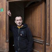 Piccolo Teatro Grassi, Milano, Italia, 3 Aprile 2021. Stefano Cisarri, tecnico luci.