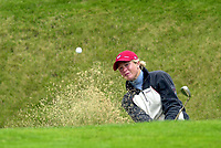Golf: WPGA International Matchplay golf at Gleneagles.<br /><br />September 7th 2001. Suzann Pettersen bunkered on first hole today in her match against Trish Johnson