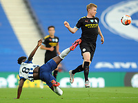 Football - 2019 / 2020 Premier League - Brighton & Hove Albion vs Manchester City<br /> <br /> <br /> Kevin De Bruyne of Man City and Yves Bissouma of Brighton , at the Amex Stadium<br /> <br /> COLORSPORT/ANDREW COWIE