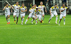 Players of Maribor celebrate after winning during football match between NK Celje and NK Maribor in Final of Slovenian Cup 2016, on May 25, 2016 in Stadium Bonifika, Koper, Slovenia. Photo by Vid Ponikvar / Sportida