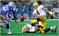 (2000)-Green Bay's Brett Favre fumbles the ball on the Lions 11-yard line and was recovered by Detroit's Travis Kirschke.