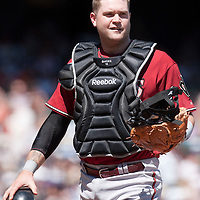 19 April 2009: Arizona Diamondbacks' catcher Chris Snyder is seen during the San Francisco Giants' 2-0 win  against the Arizona Diamondbacks at AT&T Park in San Francisco, CA.