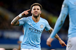Manchester City's Kyle Walker gestures on the pitch