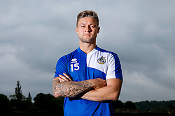 New Signing James Clarke poses for a portrait as Bristol Rovers return to training ahead of their 2015/16 Sky Bet League Two campaign - Photo mandatory by-line: Rogan Thomson/JMP - 07966 386802 - 02/07/2015 - SPORT - Football - Bristol, England - The Lawns Training Ground, Henbury - Sky Bet League Two.