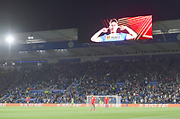 Football - 2021 / 2022 UEFA Europa League - Group C, Round One - Leicester City vs Napoli - King Power Stadium - Thursday 16th September 2021<br /> <br /> A display of Leicester City's Ayoze Perez as he scores the opening goal.<br /> <br /> COLORSPORT/Ashley Western