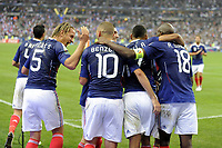 FOOTBALL - UEFA EURO 2012 - QUALIFYING - GROUP D - FRANCE v ROMANIA - 9/10/2010 - PHOTO JEAN MARIE HERVIO / DPPI - JOY FRANCE