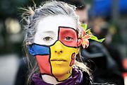 2009-09-28/ Javier Calvelo - adhocFOTOS/ URUGUAY/ MONTEVIDEO/ Plaza  Cagancha/ Movilizacion organizada por MYSU/ Mujer y Salud en Uruguay (MYSU) es una organización no gubernamental, feminista cuya misión es la promoción y defensa de la salud y los derechos sexuales y los derechos reproductivos desde una perspectiva de género y generaciones.<br />  dia lunes.<br /> En la foto:  Movilizacion organizada por MYSU en Plaza Cagancha. Foto: Javier Calvelo/ adhocFOTOS