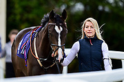 """Amazon Princess ridden by Jack Mitchell and trained by Archie Watson in the Let's Play """"Four From The Top"""" / British Ebf Novice Median Auction Stakes race.  - Mandatory by-line: Ryan Hiscott/JMP - 01/05/2019 - HORSE RACING - Bath Racecourse - Bath, England - Wednesday 1 May 2019 Race Meeting"""