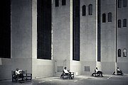 Four Men, Four Benches - Dubai, U.A.E.