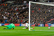 Goal - Raheem Sterling of England scores a goal to give a 1-0 lead to the home team during the UEFA European 2020 Qualifier match between England and Czech Republic at Wembley Stadium, London, England on 22 March 2019.