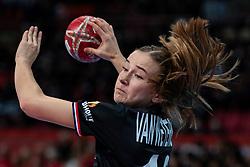 11-12-2019 JAP: Netherlands - Korea, Kumamoto<br /> Last match Main Round Group1 at 24th IHF Women's Handball World Championship, Netherlands win the last match against Korea with 36 - 24. / Bo van Wetering #12 of Netherlands