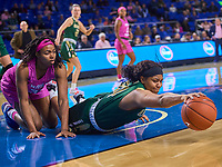 UAB Blazers forward Imani Johnson (34) reaches for the ball during the UAB Blazers at Middle Tennessee Blue Raiders college basketball game in Murfreesboro, Tennessee, Thursday, February, 20, 2020.<br /> Photo: Harrison McClary/All Tenn Sports