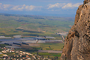 Israel, Lower Galilee, Arbel mountain, overlooks the sea of Galilee,
