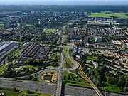 Nederland, Zuid-Holland, Leidschendam, 14-09-2019; Noordelijke randweg Den Haag, N14, Rijksweg 14 gezien vanaf de A4. Toerit voor de SijtwendetunneltussenLeidschendamenVoorburg (onderdeel van deNoordelijke Randweg Haagse Regio(NORAH).<br /> Northern ring road The Hague.<br /> <br /> luchtfoto (toeslag op standard tarieven);<br /> aerial photo (additional fee required);<br /> copyright foto/photo Siebe Swart