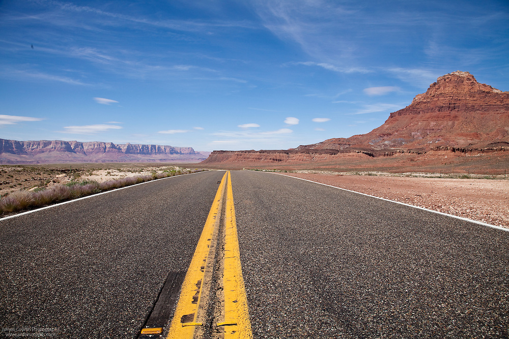 US Route 89 on the Navajo Indian Reservation in northern Arizona