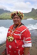 Puamau, Hiva Oa,Marquesas Islands, French Polynesia, (Editorial use only)<br />