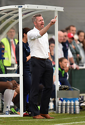 Bristol Academy Women Manager Willie Kirk directs play from the touch line - Mandatory by-line: Paul Knight/JMP - Mobile: 07966 386802 - 29/08/2015 -  FOOTBALL - Stoke Gifford Stadium - Bristol, England -  Bristol Academy Women v Birmingham City Ladies FC - FA WSL Continental Tyres Cup