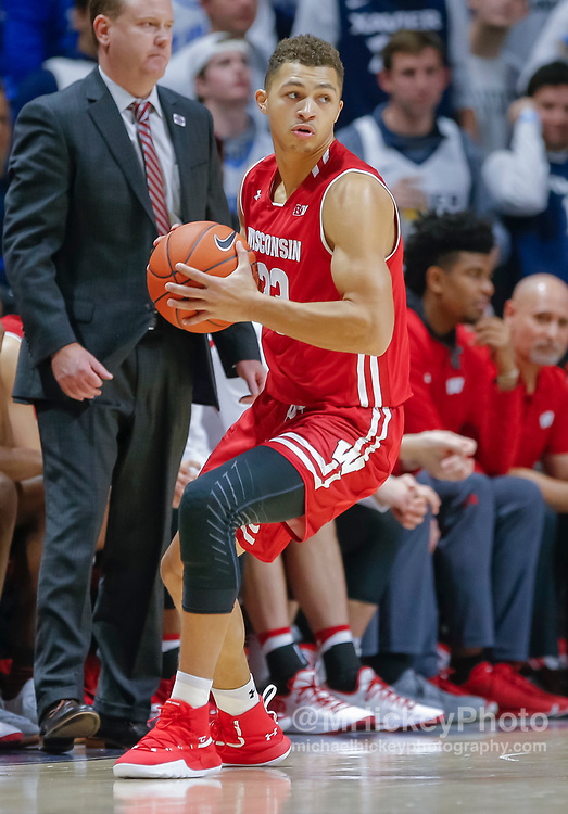 CINCINNATI, OH - NOVEMBER 13: Kobe King #23 of the Wisconsin Badgers is seen during the game against the Xavier Musketeers at Cintas Center on November 13, 2018 in Cincinnati, Ohio. (Photo by Michael Hickey/Getty Images) *** Local Caption *** Kobe King