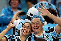 Torcedores gremistas vibram com a vitória do Grêmio sobre o Independente Santa Fé, da Colômbia durante partida da Libertadores da América, na Arena do GrêmioFOTO: Jefferson Bernardes/Preview.com