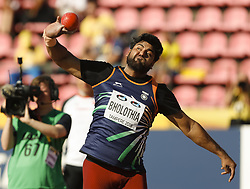 July 10, 2018 - Tampere, Suomi Finland - 180710 Friidrott, Junior-VM, Dag 1: Ashish Bholothia IND competes in Shot Put during the IAAF World U20 Championships day 1 at the Ratina stadion 10. July 2018 in Tampere, Finland. (Newspix24/Kalle Parkkinen) (Credit Image: © Kalle Parkkinen/Bildbyran via ZUMA Press)