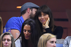 Singer Justin Timberlake and his wife Jessica Biel attend the Roger Federer (SUI) match at the 2017 US Open at Billie Jean National Tennis Center in New-York, USA, on September, 2, 2017. Photo by ABACAPRESS.COM