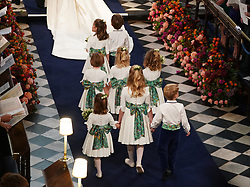 Bridesmaids and page boys arrive at the wedding of Princess Eugenie to Jack Brooksbank at St George's Chapel in Windsor Castle.