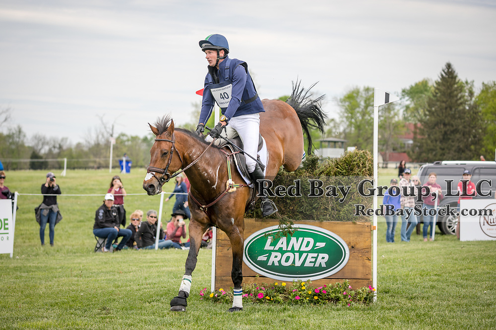 Matthew Flynn (USA) and Wizzerd during the cross-country at the 2019 Land Rover Kentucky Three-Day Event presented by MARS EQUESTRIAN in Lexington, Kentucky
