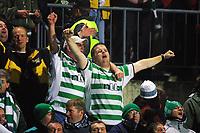 Football, Champions League, 23. oktober 2001. Rosenborg-Celtic 2-0. Supportere, Celtic. jubel. tribune.