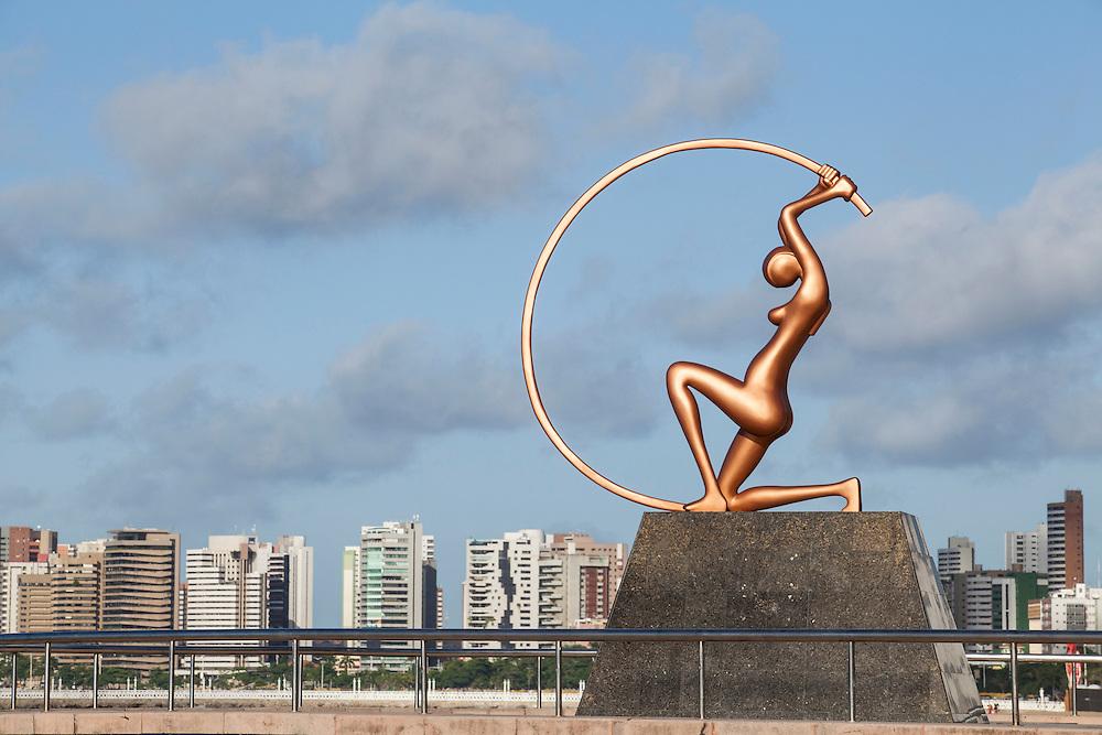 Fortaleza_CE. Brasil<br /> <br /> Estatua de Iracema Guardia, Praia de Iracema, Fortaleza, Ceara. Localizada proximo ao Calcadao, entre o fim da Praia de Iracema e o inicio da Avenida Beiramar. A estatua eh uma homenagem a Iracema, a protagonista do famoso romance do poeta cearense Jose de Alencar .<br /> <br /> Statue of Iracema, Iracema Beach, Fortaleza, Ceara. Located close to the boardwalk, between the end of Iracema Beach and the beginning of Beiramar Avenue. The statue is a tribute to Iracema, the protagonist of the famous novel by the poet Jose de Alencar, born in Ceara.<br /> <br /> Foto: RODRIGO LIMA / NITRO