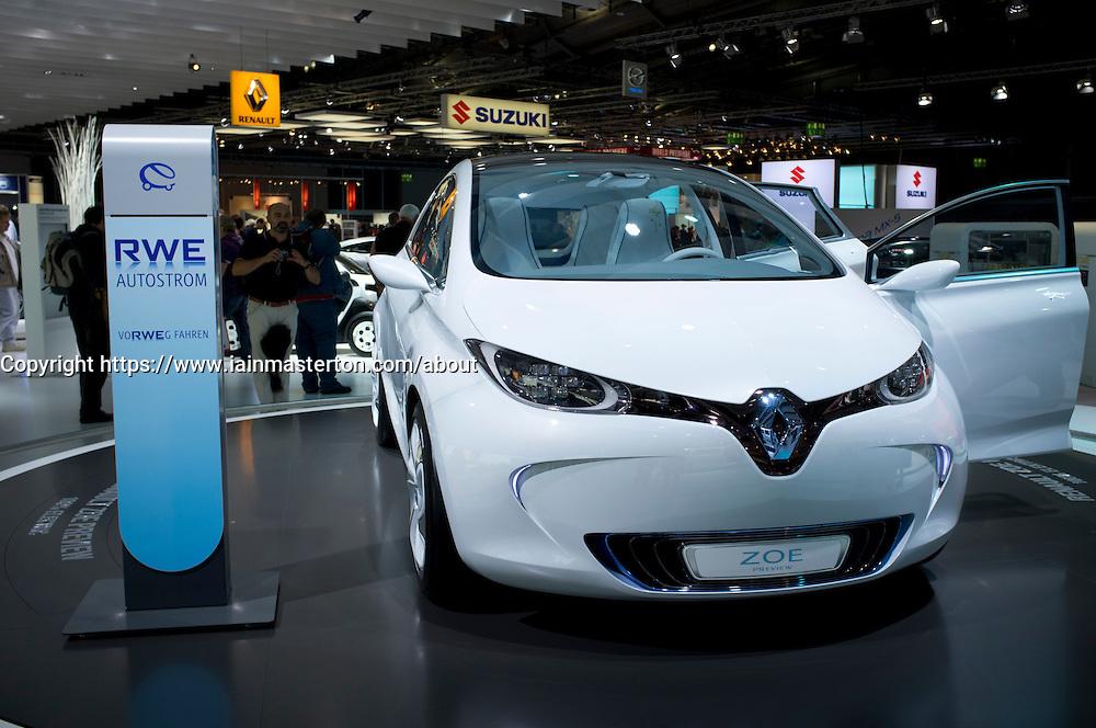 Renault Zoe electric car at Frankfurt Motor Show or IAA 2011 in Germany