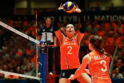 20180531 NED: Volleyball Nations League Netherlands - Brazil, Apeldoorn<br />Femke Stoltenborg (2) of The Netherlands <br />©2018-FotoHoogendoorn.nl
