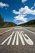 A moose crossing sign along Route 12 in Montana. Missoula Photographer, Missoula Photographers, Montana Pictures, Montana Photos, Photos of Montana