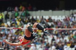 August 5, 2017 - London, England, United Kingdom - EliÅ¡ka KLUCINOVÁ, CZECH REPUBLIC, at Highjump, Heptathlon, at London Stadium in London on August 5, 2017 at the 2017 IAAF World Championships athletics. (Credit Image: © Ulrik Pedersen/NurPhoto via ZUMA Press)