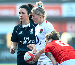 Natasha Hunt of England<br /> <br /> Photographer Simon King/Replay Images<br /> <br /> Six Nations Round 3 - Wales Women v England Women - Sunday 24th February 2019 - Cardiff Arms Park - Cardiff<br /> <br /> World Copyright © Replay Images . All rights reserved. info@replayimages.co.uk - http://replayimages.co.uk