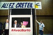 16062015. Créteil. Palais des Sports. Premier meeting de campagne Claude Bartolone (PS) pour les Elections Régionales 2015.